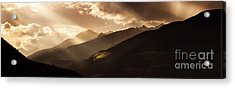 Panoramic View Of Dolomite Alps Acrylic Print by Evgeny Kuklev