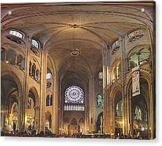 Paris France - Notre Dame De Paris - 01138 Acrylic Print by DC Photographer