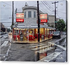 Pat's Steaks Acrylic Print by Jack Paolini