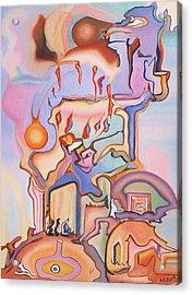 Pentecost Acrylic Print by Aswell Rowe