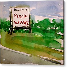 People Wave Acrylic Print by Pete Maier