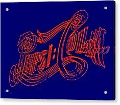 Pepsi Cola Acrylic Print by Susan Candelario