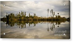 Perfect Lake Acrylic Print by Tim Hester