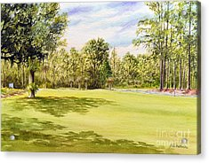 Perry Golf Course Florida Acrylic Print by Bill Holkham