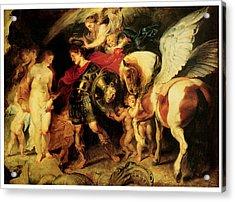 Perseus Liberating Andromeda Acrylic Print by Peter Paul Rubens