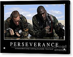 Perseverance Inspirational Quote Acrylic Print by Stocktrek Images