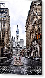 Philadelphia City Hall  Acrylic Print by Bill Cannon