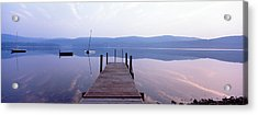 Pier, Pleasant Lake, New Hampshire, Usa Acrylic Print by Panoramic Images