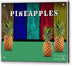 Pineapples Acrylic Print by Marvin Blaine