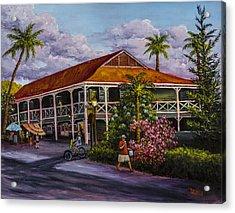 Pioneer Inn Lahaina Acrylic Print by Darice Machel McGuire