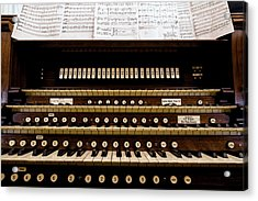 Pipe Organ Console, The Temple Acrylic Print by Panoramic Images