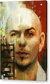 Pitbull Acrylic Print by Corporate Art Task Force