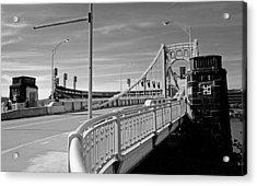 Pittsburgh - Roberto Clemente Bridge Acrylic Print by Frank Romeo