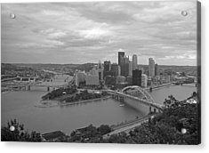 Pittsburgh - View Of The Three Rivers Acrylic Print by Frank Romeo