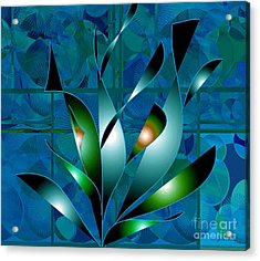 Planted Beauty Acrylic Print by Iris Gelbart