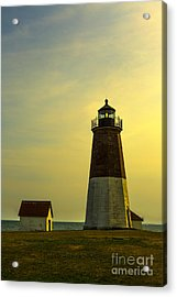 Point Judith Lighthouse Acrylic Print by Diane Diederich
