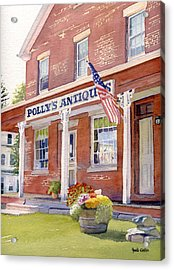 Polly's Antiques Acrylic Print by Heidi Gallo