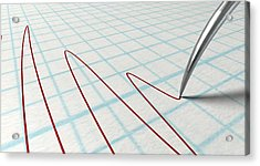 Polygraph Needle And Drawing Acrylic Print by Allan Swart