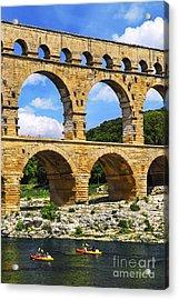 Pont Du Gard In Southern France Acrylic Print by Elena Elisseeva