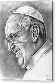 Pope Francis Acrylic Print by Greg Joens
