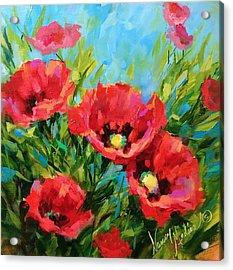 Poppy Tango Acrylic Print by Nancy Medina