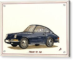 Porsche 911 Classic Acrylic Print by Juan  Bosco