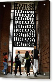 Portico Acrylic Print by British Library