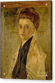 Portrait Of A Jewish Boy Acrylic Print by Celestial Images
