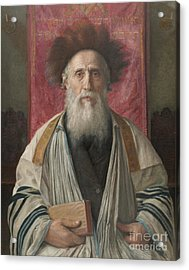 Portrait Of A Rabbi Acrylic Print by Celestial Images