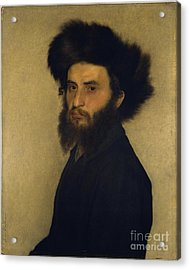Portrait Of A Young Jewish Man Acrylic Print by Celestial Images