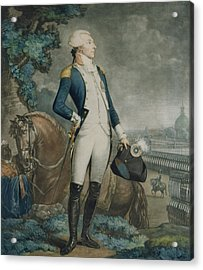 Portrait Of The Marquis De La Fayette Acrylic Print by Philibert-Louis Debucourt