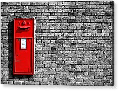 Post Box Acrylic Print by Mark Rogan