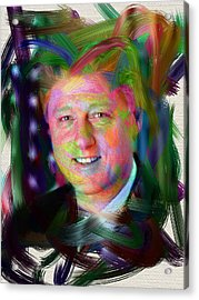 President William J. Clinton Acrylic Print by Official White House Photograph