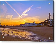 Provincetown Beach At Sunset Acrylic Print by Frank Winters