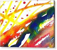 Pure Color Inspiration Abstract Painting Parallel Perception Acrylic Print by Irina Sztukowski