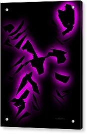 Purple Abstract Art Acrylic Print by Mario Perez