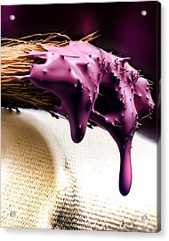 Purple Drip Acrylic Print by Camille Lopez
