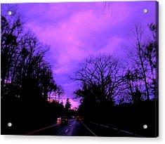 Purple Haze Acrylic Print by Allen n Lehman