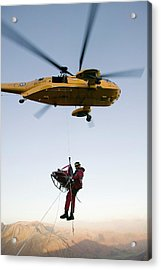 Raf Sea King Helicopter Acrylic Print by Ashley Cooper