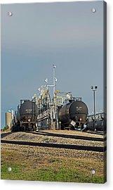 Rail Cars Carrying Lpg Acrylic Print by Jim West