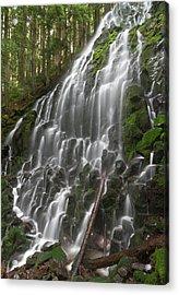Ramona Falls In Clackamas County, Oregon Acrylic Print by William Sutton