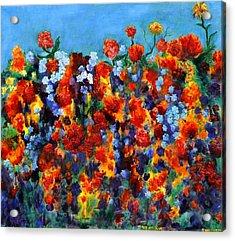 Red And Blue Acrylic Print by Regina Valluzzi