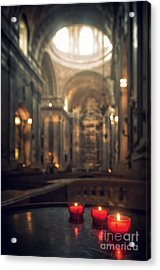 Red Candles Acrylic Print by Carlos Caetano