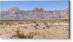 Red Rock Canyon Panorama Nevada. Acrylic Print by Gino Rigucci