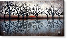 Reflecting Trees Acrylic Print by Janet King