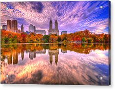 Reflection Of Fall Acrylic Print by Midori Chan
