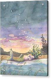 Rest On The Horizon Acrylic Print by Sara Burrier