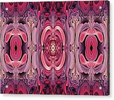 Retro Abstract Acrylic Print by Georgiana Romanovna