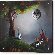 Alice In Wonderland Original Artwork Acrylic Print by Shawna Erback