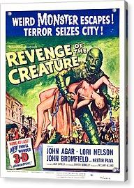 Revenge Of The Creature, 1955 Acrylic Print by Everett